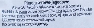 Pierogi serowo-jagodowe - Ingrédients - pl
