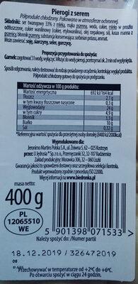 Pierogi z serem - Składniki - pl