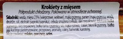 Krokiety z mięsem - Składniki - pl