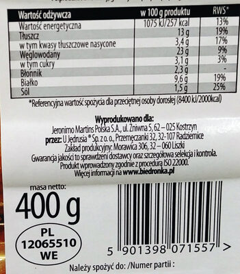 Krokiety z mięsem - Nutrition facts