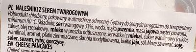 Naleśniki z serem twarogowym - Składniki - pl