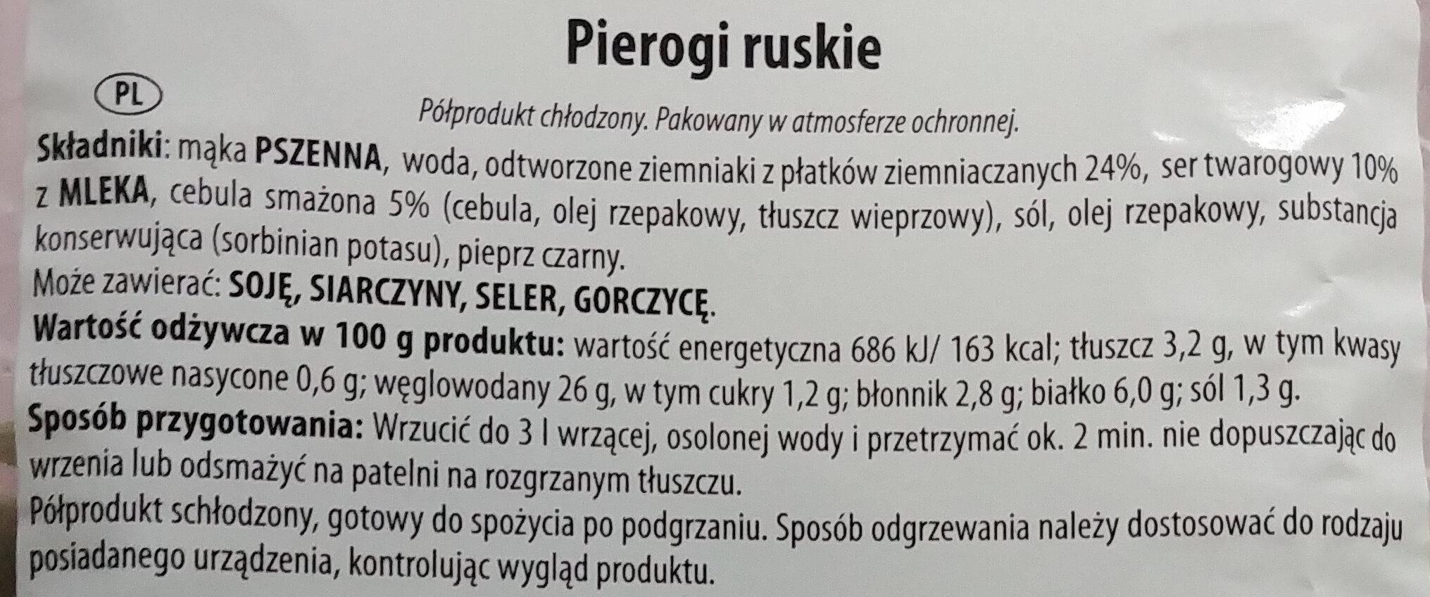 Pierogi ruskie - Składniki - pl