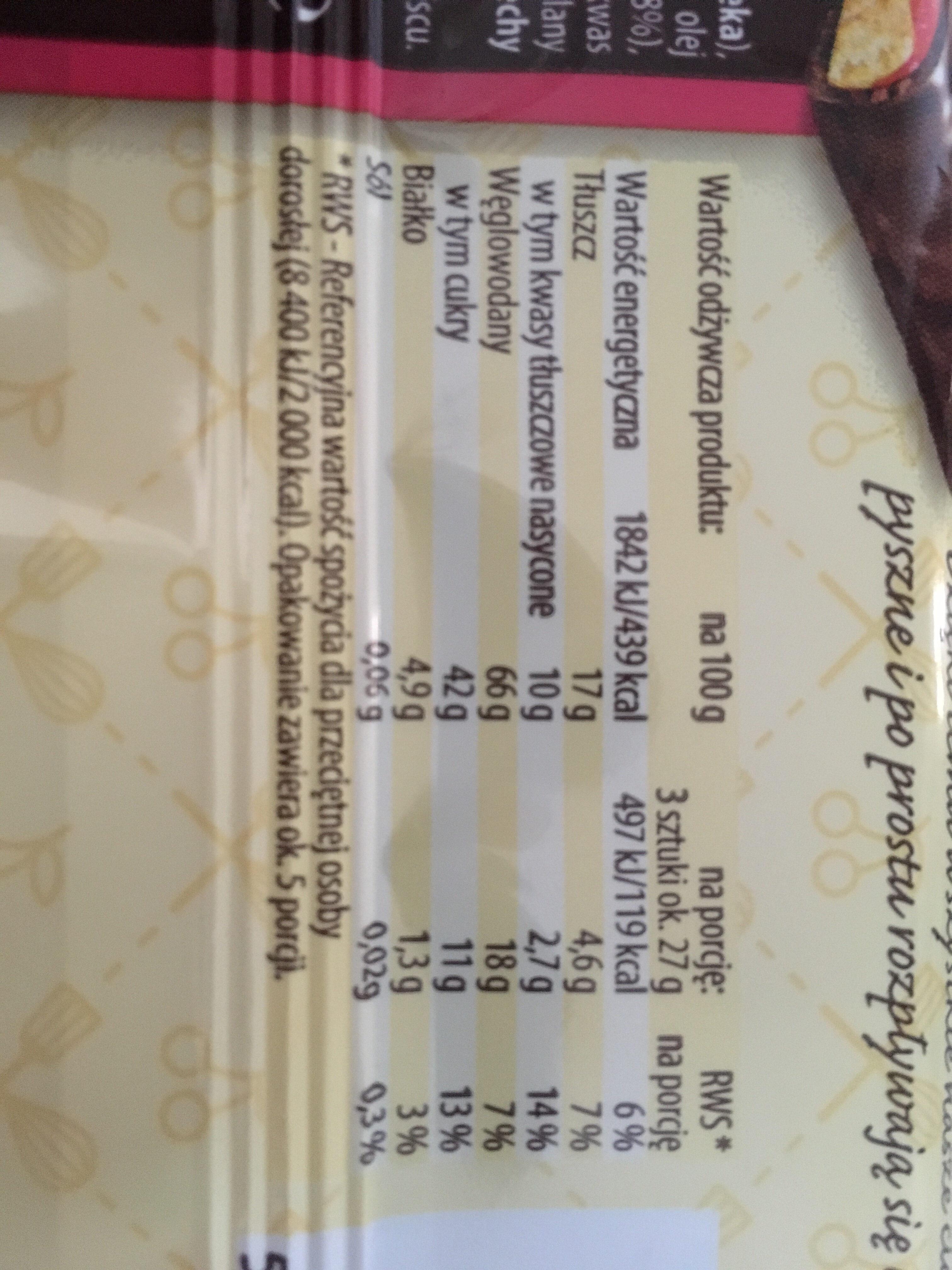 Krakuski - Nutrition facts
