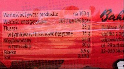 Herbatniki-markizy z kremem o smaku czekoladowym (41%) - Informations nutritionnelles - pl