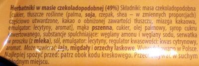 Herbatniki w masie czekoladopodobnej (49%) - Składniki - pl