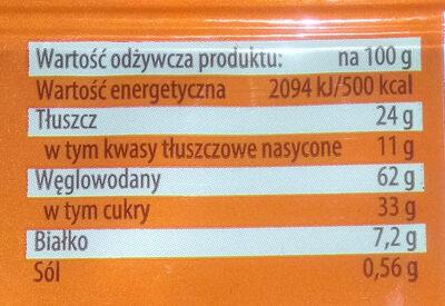 Herbatniki w masie czekoladopodobnej (49%) - Wartości odżywcze