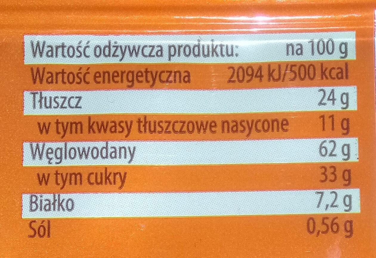 Herbatniki w masie czekoladopodobnej (49%) - Wartości odżywcze - pl