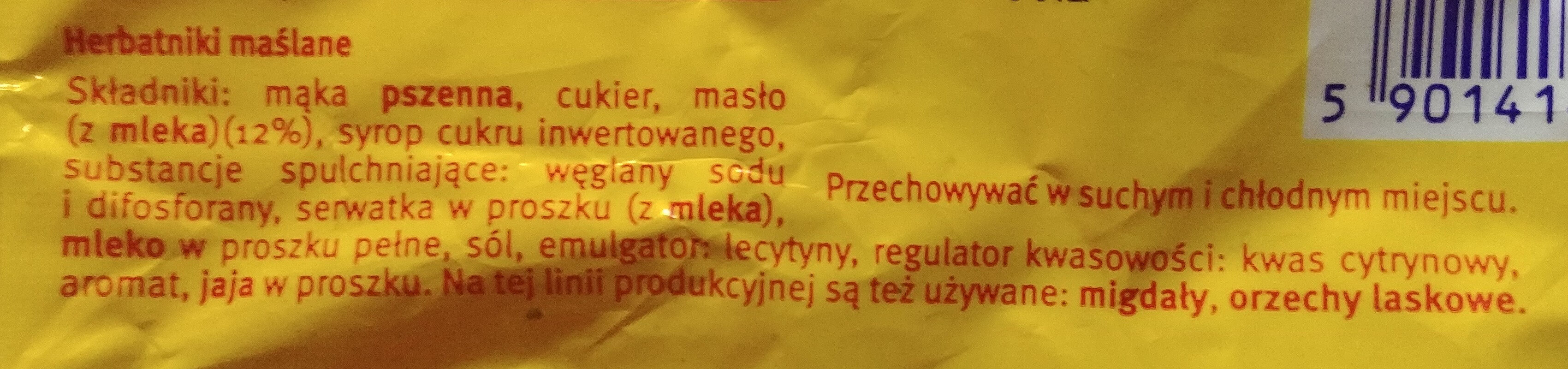 Herbatniki maślane - Ingredients