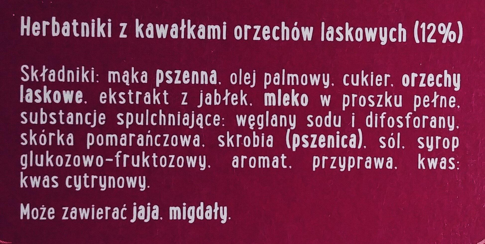 Herbatniki z kawałkiami orzechów laskowych (12%) - Składniki - pl