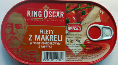 Filety z makreli w sosie pomidorowym z papryką. - Product