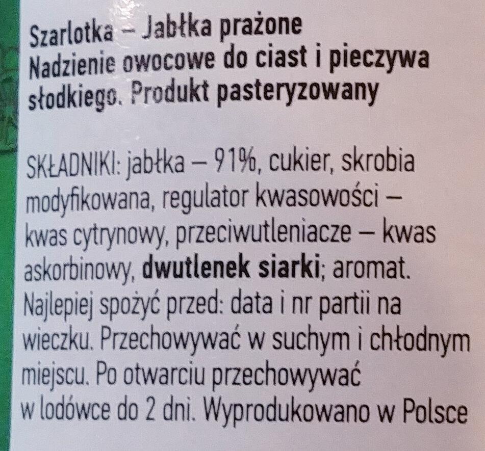 Szarlotka - jabłko prażone - Ingrédients - pl