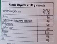 Szarlotka - jabłko prażone - Informations nutritionnelles - pl