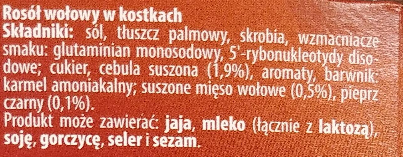 Kostka mięsna - Ingrédients - pl