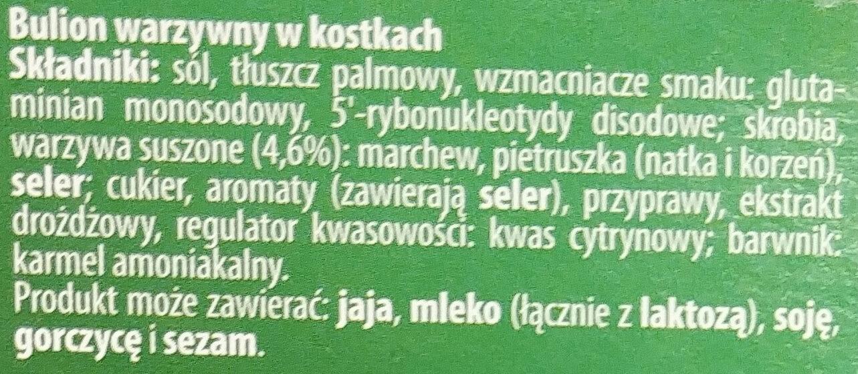 Kostka warzywna - Ingrédients - pl