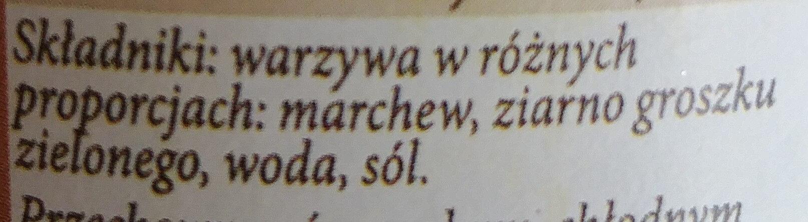 Marchewka z groszkiem - Składniki