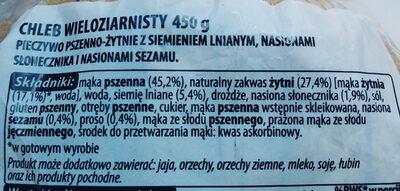 Chleb wieloziarnisty - Składniki - pl