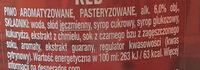Desperados Red - Składniki - pl