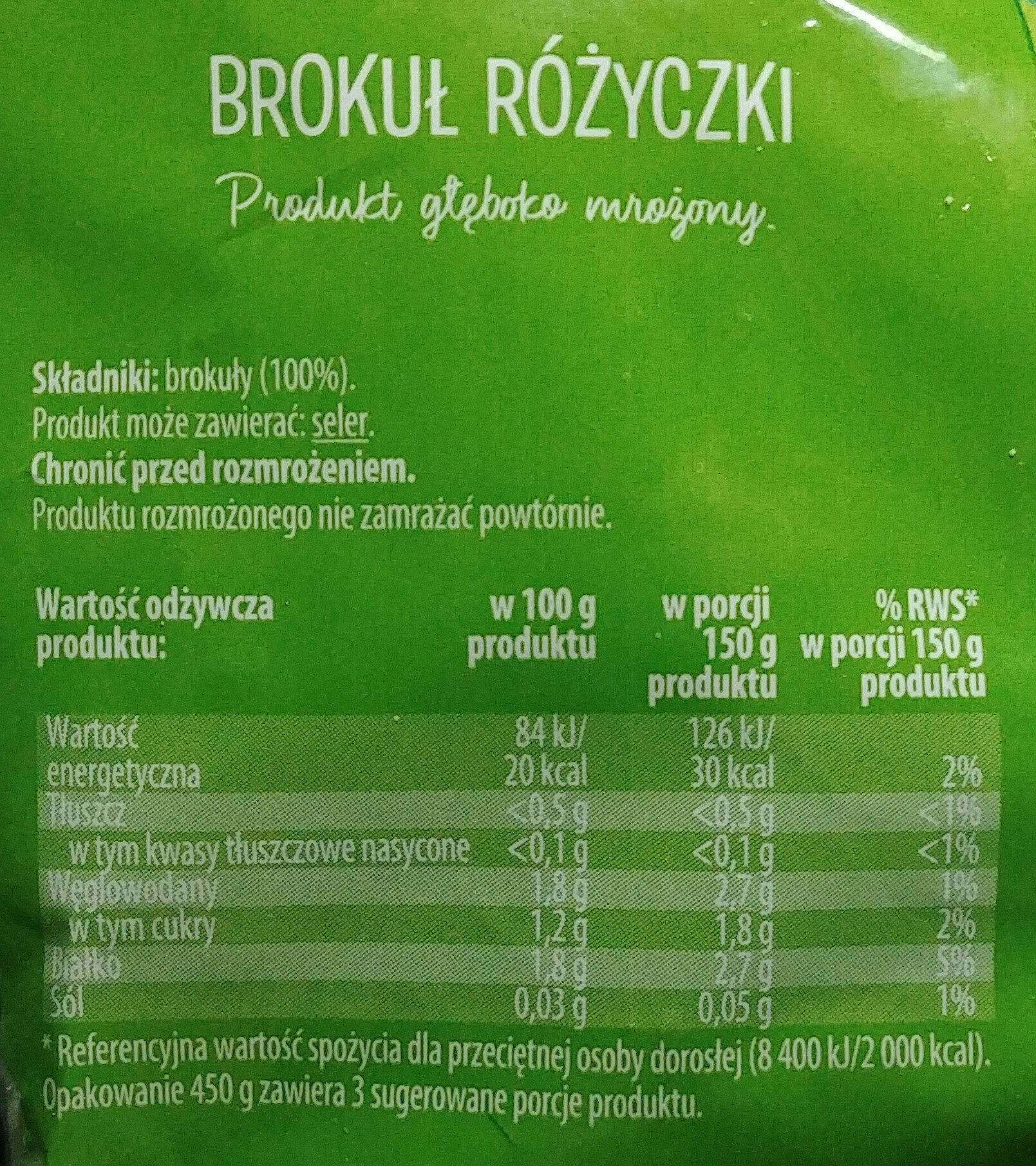 Brokuły różyczki - Ingrédients - pl
