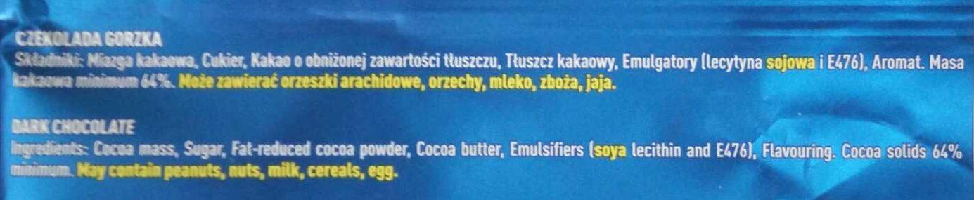 Dark chocolate - Ingrediënten