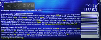 Czekolada mleczna z nadzieniem truskawkowym - Składniki - pl