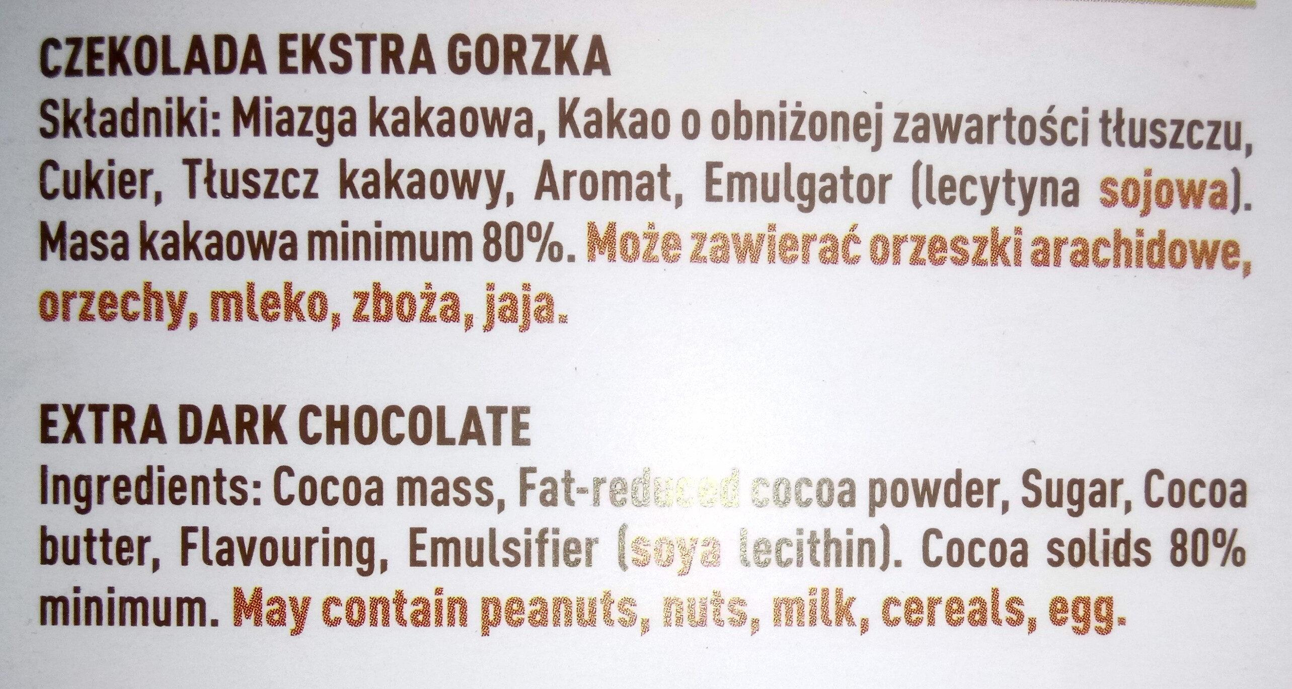 Czekolada ekstra gorzka 80% - Ingredients