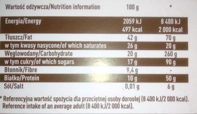 Czekolada ekstra gorzka 80% - Nutrition facts