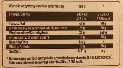 Wedel extra dark chocolate - Wartości odżywcze - pl