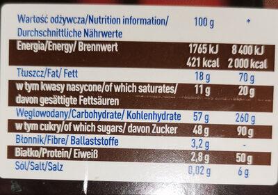Czekoladki Wedel Baryłki - Nutrition facts