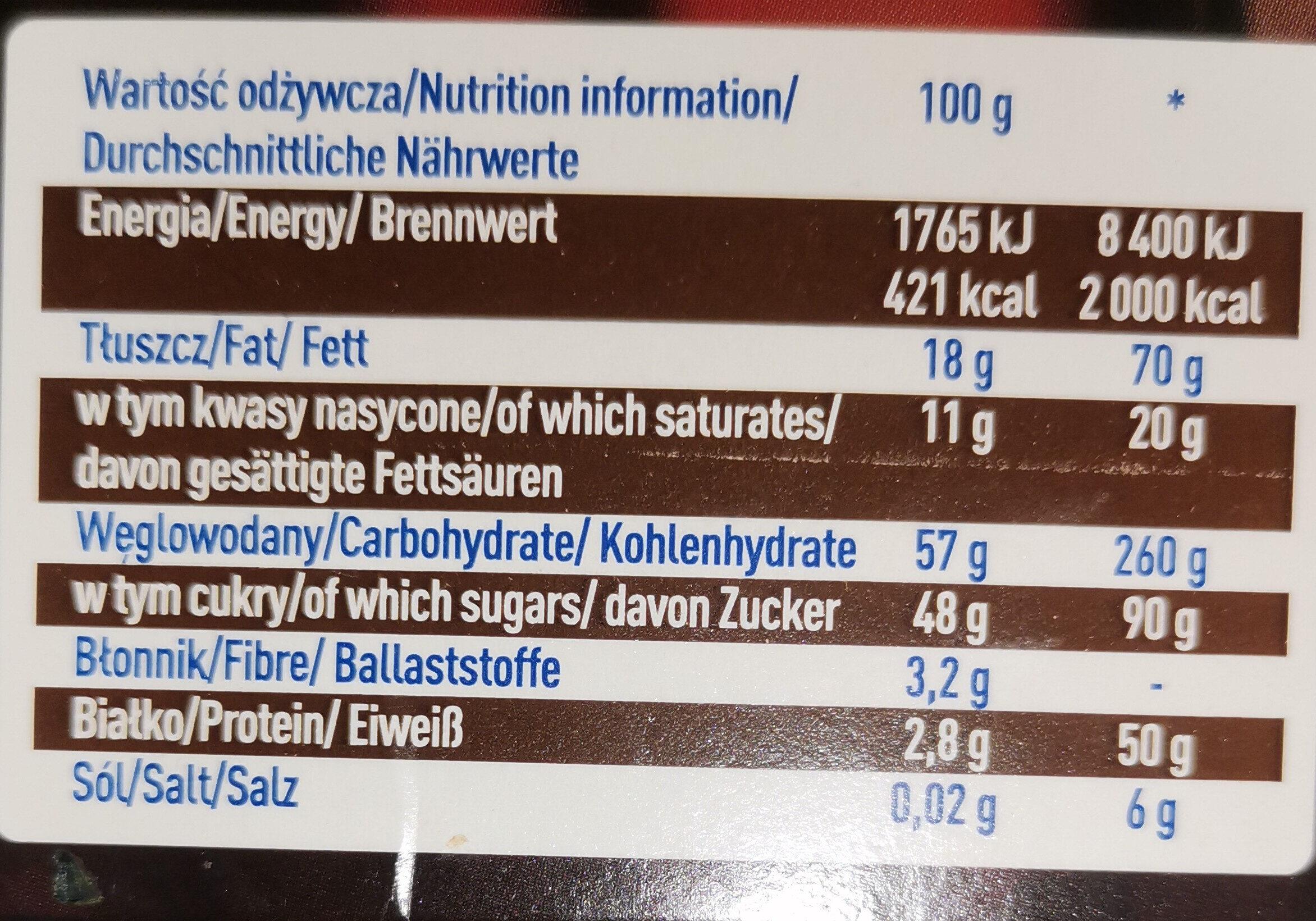 Czekoladki Wedel Baryłki - Wartości odżywcze - fr