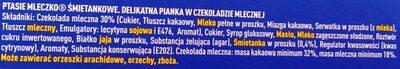 Ptasie Mleczko, Śmietankowe - Składniki - pl