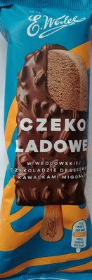 Lody czekoladowe w czekoladzie deserowej z kawałkami migdałów - Produkt - pl