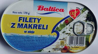 Filety z makreli w oleju - Produkt