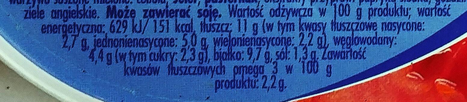 Filety śledziowe w sosie pomidorowym - Wartości odżywcze