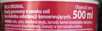 Cola original - Składniki - pl