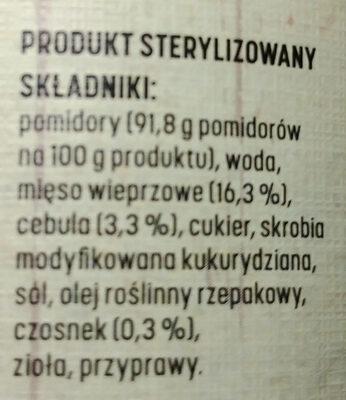 Sos Boloński z mięsem - Ingredients - pl