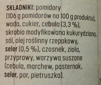 Sos pomidorowy - Ingredients - pl