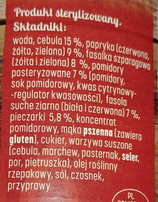 Leczo z fasolkami - Ingredients - pl