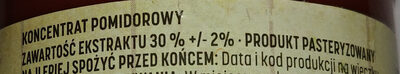 Koncentrat pomidorowy 30% - Ingredients