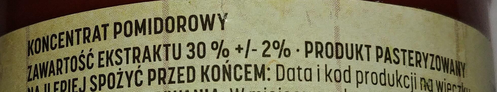 Koncentrat pomidorowy 30% - Ingredients - pl