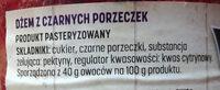 Dżem z czarnych porzeczek - Ingredients - pl