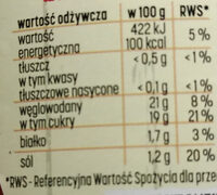 Ketchup łagodny - Nutrition facts - pl