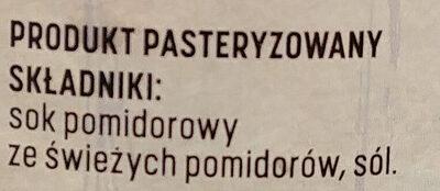 Sok pomidorowy - Ingredients - pl