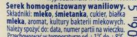 Serek waniliowy - Składniki - pl