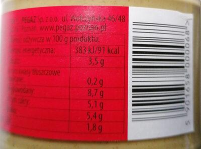 Musztarda sarepska - Wartości odżywcze