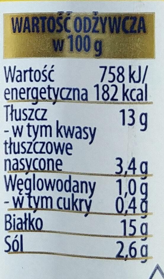 Kiełbasa kurczęca homogenizowana wędzona parzona w osłonce niejadalnej. - Wartości odżywcze - pl