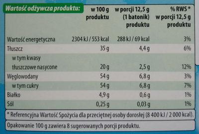 8 Batoników z czekolady mlecznej - Informations nutritionnelles - de