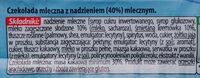 Baton z czekolady mlecznej - Ingrédients - pl