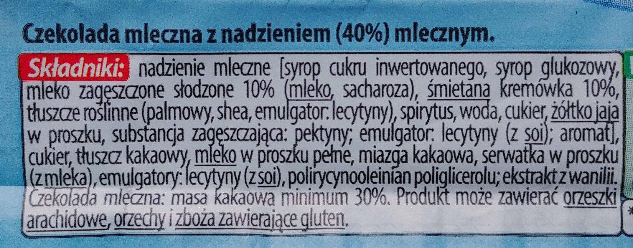 Baton z czekolady mlecznej - Ingredients