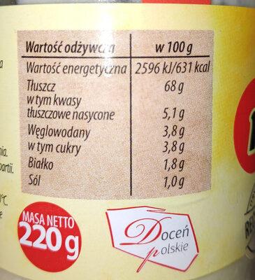Majonez klasyczny - Nutrition facts - pl