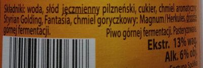 Blond Ale - Ingredients - pl